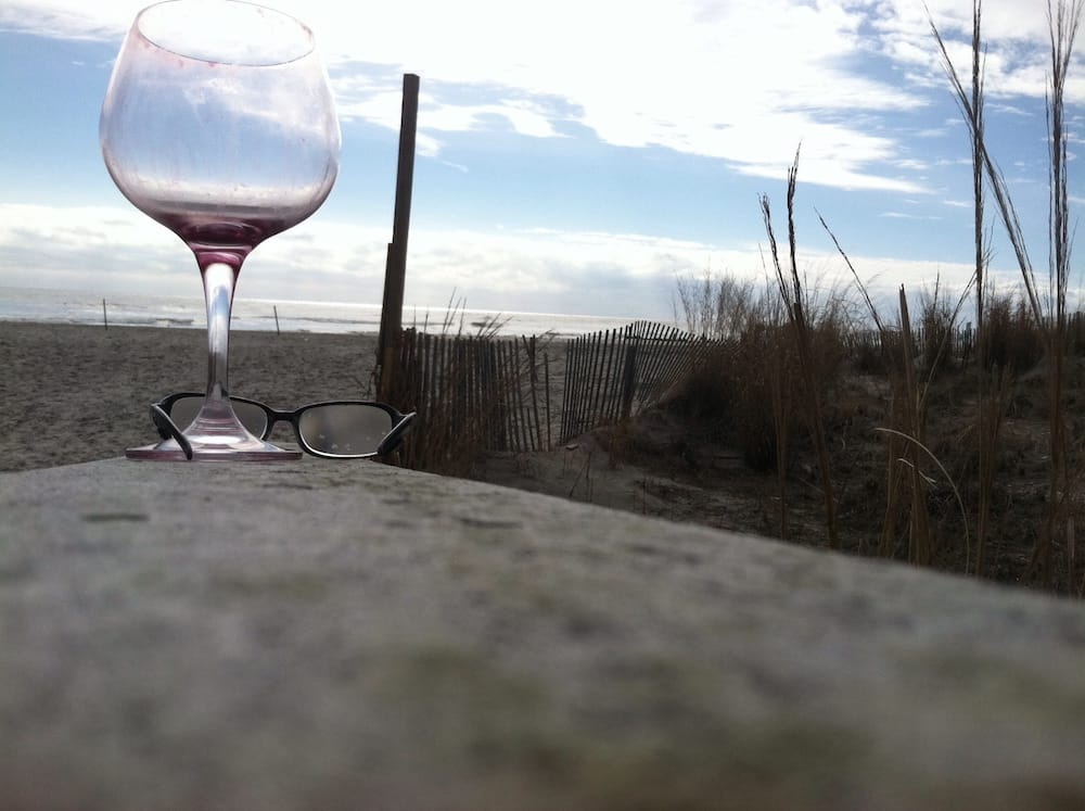 Atlantic City Pier with Wine Glass