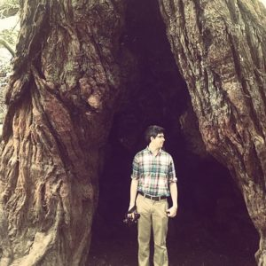 Patrick Lane in a Redwood Tree